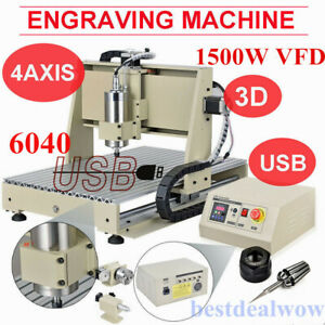 Usb 4axis 6040 Cnc Router Engraver 1 5kw Vfd Mill Engraving Metalworking Machine