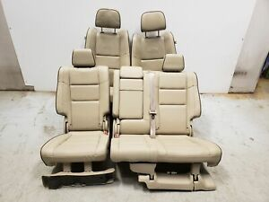 2018 Jeep Grand Cherokee Overland Seats Front Rear Left Right Tan Leather Oem