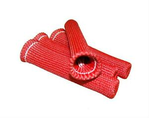 2 Thermo tec Spark Plug Boot Protector Cool it Plug Wire Sleeves 6 Red Setof4