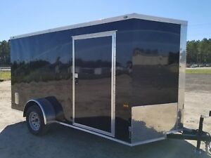 Enclosed Cargo Trailer 6x12 6 X 12 Sa In Stock Ramp V nose Motorcycle 10 14