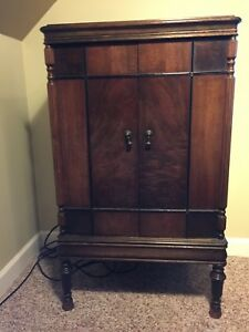 Antique Hard Wood Chest Of Drawers Cabinet With Hidden Compartment Under Lid