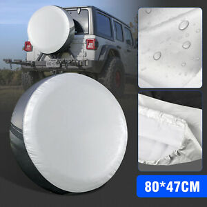 13 19inch Spare Tire Cover Protector Universal Fit For Jeep Trailer Rv Suv Truck