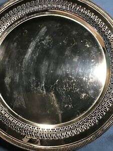 International Silver 12 Pierced Tray Platter