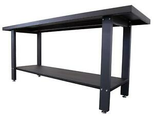Steel Work Bench Heavy Duty Industrial Strength 2000 Pound Capacity Metal Work
