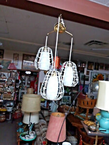 Mid Century Modern Hanging Lamp Three Lamps