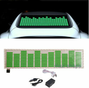 70 16cm Green Car Sticker Music Rhythm Led Flash Lamp Sound Activated Equalizer