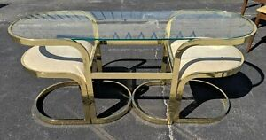 Milo Baughman For Dia Console Table W Nesting Chairs