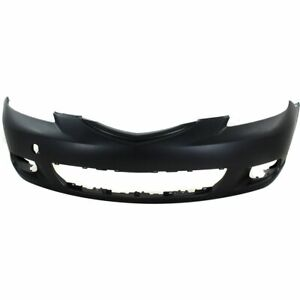 Bumper Cover For 2004 2006 Mazda 3 Hatchback Front Plastic With Fog Light Holes