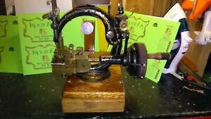 Rare Unique Antique Willcox Gibbs Double Feed Straw Braid Sewing Machine