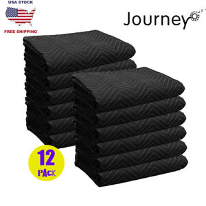 12 Moving Blankets Mats Economy 35lb dz Quilted Shipping Furniture Pads