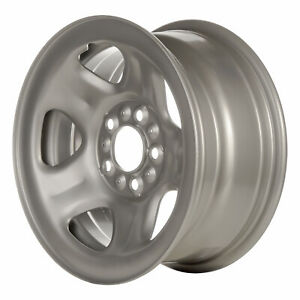 Remanufactured 15x7 Steel Wheel 5 Double Spoke Flat Grey Full Face Painted