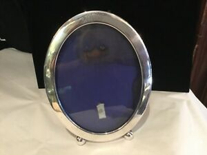Antique Large Footed Sterling Silver Oval Picture Frame Must See No Reserve