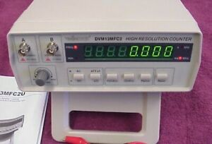 High Resolution Frequency Counter 0 01 Hz 2 4ghz 8 Digit Display Dvm13mfc2u