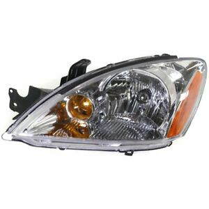 Headlight For 2004 Mitsubishi Lancer Wagon Left Halogen Clear Lens With Bulb