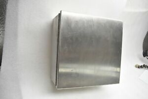 Hoffman Stainless Steel Enclosure Cat A 1212chnfss 12x12x6 W Hinged Cover