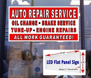 Auto Repair Service Led Window Sign 48x24