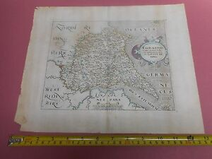 100 Original East Yorkshire Map By Saxton Hole C1610 Scarce