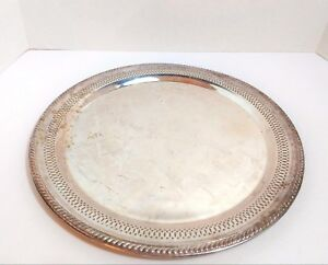 Vintage F B Rogers Silver Co 1883 Silverplate Serving Tray 1914 13 5