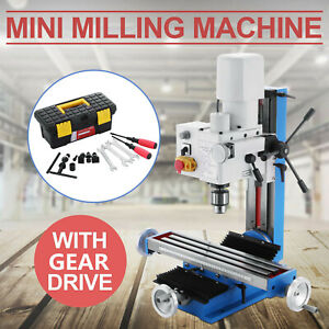 Mini Milling Drilling Machine With Gear Drive Precision 45 45 Variable Speed