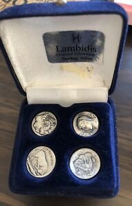 4 Vintage Silver Plated Coins 925 Silver Alexander The Great Coins Replica