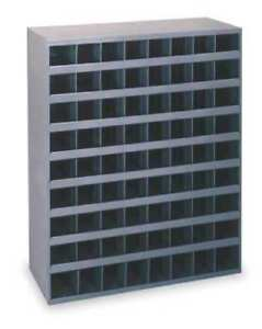 Metal Storage 72 Bins Steel Cabinet Parts Nuts Bolts Fasteners Screws Hole Shop