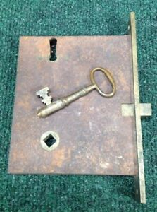 Antique Mattison Russell Co Mortise Lock With Original Skeleton Key 92