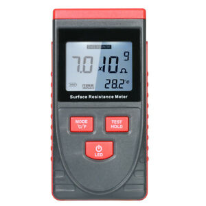 Handheld Surface Resistance Meter Anti static Insulation Resistance Tester A8g7