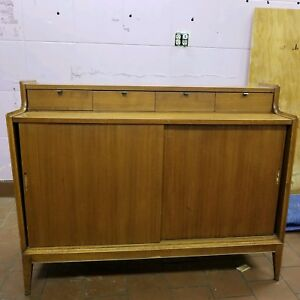 Rare Mid Century Arthur Umanoff Dimension Group By Cavalier Walnut Sideboard