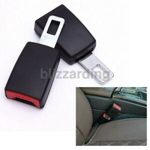 Car Safety Seat Belt Buckle Extension Extender Clip Alarm Stopper Universal 2pcs