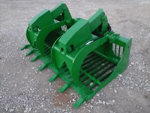 John Deere Tractor Loader Attachment 72 Rock Bucket Grapple Ship 199