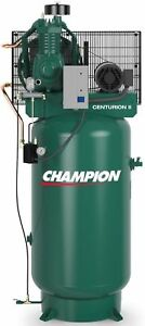 Champion 5 Hp 2 Stage 1 Phase 230 V Air Compressor Vrv5 8 Full Package Usa Made