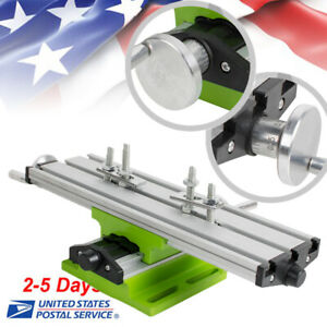 us pro Milling Machine Compound Work Table Cross Slide Bench Drill Press Vise A
