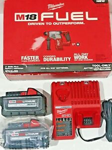 Milwaukee M18 Fuel 1 Sds Plus Rotary Hammer Kit High Output Xc 6 0 Batteries