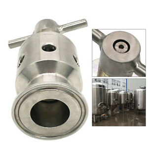 1 5 Tri Clamp Adjustable Pressure Relief Safety Valve Sanitary 304 Stainless Us