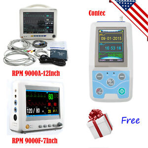 usa Medical Vital Sign Patient Monitor 6 parameter Ecg Nibp Resp Temp Spo2 Pr