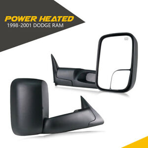 L R Fit 1998 2001 Dodge Ram 1500 2500 3500 Flip Up Power Heated Tow Mirrors