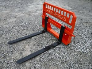 Kubota Kioti Skid Steer Attachment New Extreme 48 Pallet Forks Ship 149