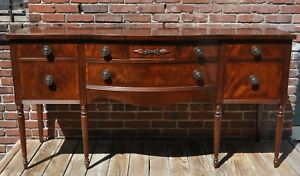 Vintage Johnson Handley Johnson Furniture Co Flame Mahogany Sideboard Buffet Old