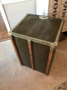 Vintage Bin Large Industrial Crate Box Salvage Farmhouse Repurpose To Table