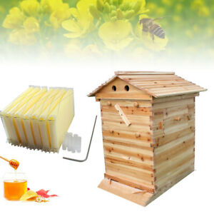 New Beehive Wooden Beekeeping House Box Hive Honey Keeper Usa Stock