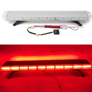 Light Bar Beacon Tow Truck Roof Response Strobe Light 88 Led 47 12v 24v 88w Red