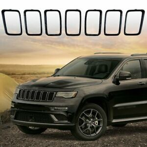 Gloss Black Vent Hole Trim Ring Grill Inserts For 2017 2019 Jeep Grand Cherokee