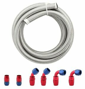 10an An10 Stainless Steel Braided Hose Hose End Adapter Kit 3meter Oil Fuel