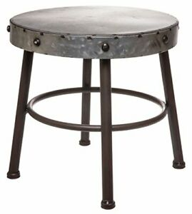 Red Co Antique Metal Milking Stool Display Stand 10 Height X 11 Diameter
