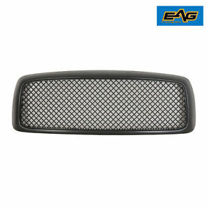 Eag Upper Black Grille Mesh Abs Grill For 03 05 Dodge Ram 1500 2500 3500 Hd