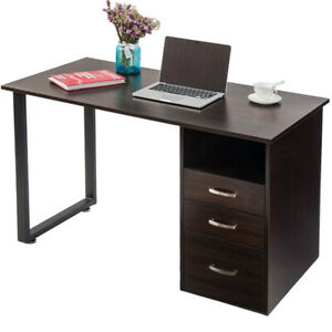 Home Office Desk Computer Desk With Cabinet And Drawers Table Workstation