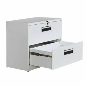 2 drawers Metal Vertical Locking File Cabinet With Keys For Legal Business File