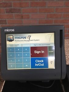 micros Pos System Ws4lx For Restaurant or Retail Business