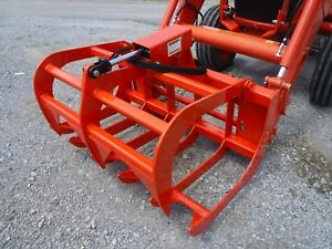 Kubota Tractor Skid Steer Attachment 48 Root Rake Grapple Bucket Free Ship