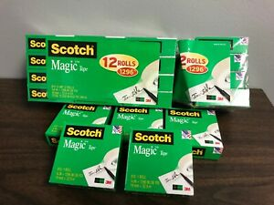 Lot 21 Rolls 810 Scotch Magic Tape 3 4 Transparent 3m